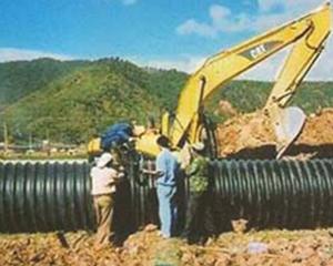 钢带管道施工现场