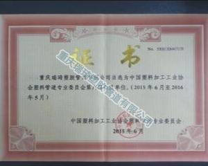 瑞琦管道会员单位证书